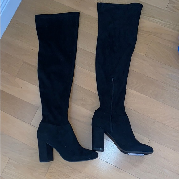 7fe80e2cf30 Steve Madden Galeee Over the Knee Suede Boots NWT